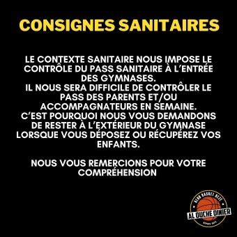 Consignes sanitaire